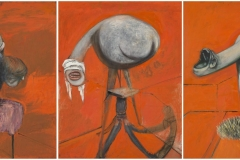 Three  Studies for Figures at the Base of a Crucifixion c.1944 - Francis Bacon
